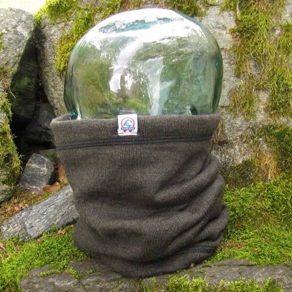 Image of RANA neck warmer HUNTER - merino wool lined with